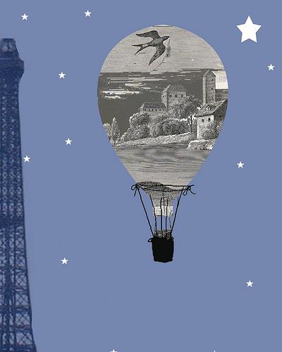 Paris Night Silhouette