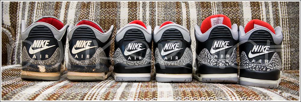 1988, 1994, & 2001 Black Cement III's.
