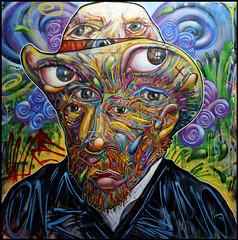 Arnaud Rabier - Nowart : Portrait de Van Gogh (Chrixcel) Tags: portrait flower fleurs peinture yeux canvas vangogh toile celal nowart arnaudrabier