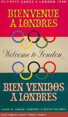 London Transport Olympics 1948 Poster from London Transport Museum