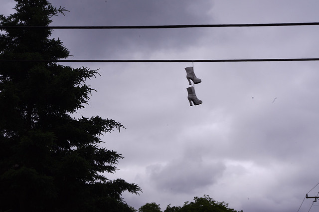 Boots on the wire