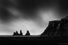Dark Times (Steve Mackay) Tags: ocean sea white black nature dark landscapes iceland steve vik times mackay wilderness reynisdrangar reynisfjall