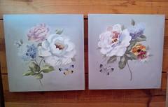 quadro flores fundo cinza (Imer atelie) Tags: quadros tela flores pintura feitoámão cinza decoração vintage par parede