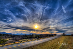 Sun Love and Dog Blue Ridge Parkway (Terry Aldhizer) Tags: sun dog sundog blue ridge parkway explore park virginia lovers couple man woman street road sky clouds february terry aldhizer wwwterryaldhizercom