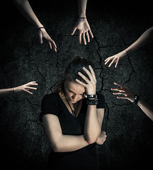 Anxiety (Ekaterina Toseva) Tags: photoshop manipulation experimental photography pain stress feelings demons destroy girl stretched hands nikon никон d7000 love yourself self piece portrait single many reaching idea creative