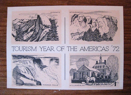Vintage postcard: Tourism Year of the Americas '72