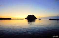 Monemvassia. Dawn. (Aster-oid) Tags: silhouettes greece sunrises laconia monemvassia dawns frontpageexplore ff64