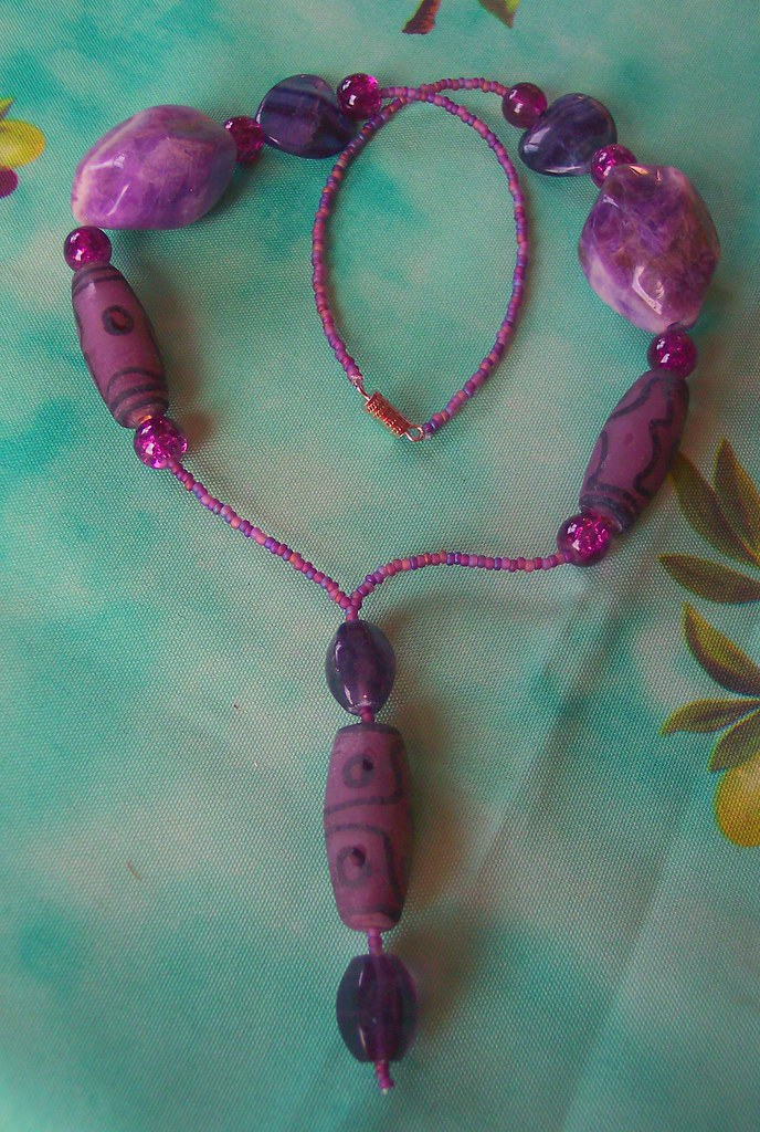 Purple Passion Flourite & Amethyst Necklace (177/365)