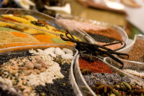spices and dried beeans