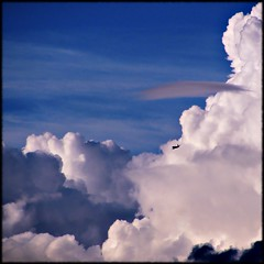 The blue beyond (Now and Here) Tags: blue sky white toronto ontario canada clouds plane canon dark square airplane fly fb jet traverse powershot explore airliner collegiate 1x1 mostviewed eastyork eyci fave10 explore309 fave50 sx110is fave25 nowandhere davidfarrant