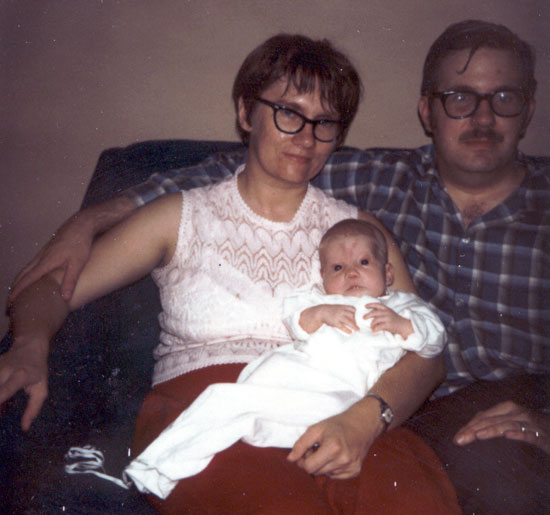 Baby Alyce with Parents (Click to enlarge)