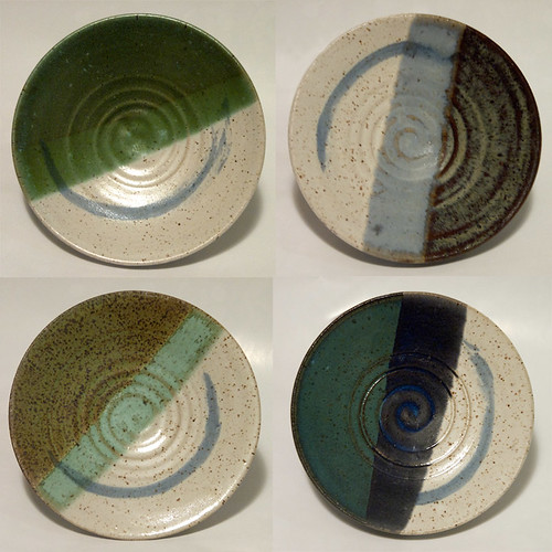 Coordinating Blue-green wall bowls set