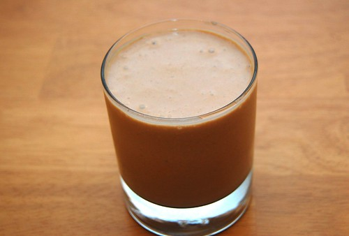 Peanut Buter and Chocolate Protein Smoothie