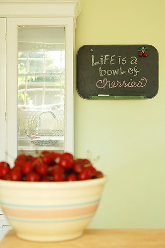 Life is a bowl of cherries.