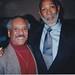 Bobby Silva with friend Olympian John Carlos