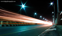 Chennai Traffic: 30 Seconds (Thiru Murugan) Tags: road longexposure india night nightshot traffic vehicles lighttrails marinabeach chennai automobiles tamilnadu 10pm beachroad