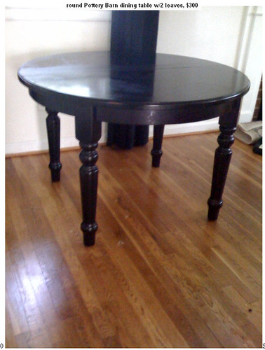 Round Black Pottery Barn Dining Table With Two Leaves 300