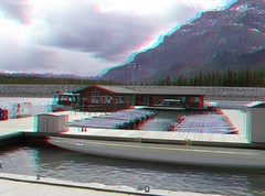 Lake Minnewanka, Banff National Park (Redbeard Math Pirate) Tags: lake canada stereoscopic 3d anaglyph stereo banff redblue banffnationalpark lakeminnewanka anaglyphic threedimensional redcyan 3dpictures