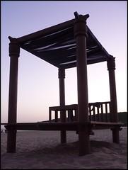 Sunset & Chillout at the beach (Aloriel) Tags: sunset espaa beach atardecer lumix spain europa europe widescreen eu playa panasonic cadiz blogged cdiz chiringuito chillout barbate unineuropea flickraward dmctz5