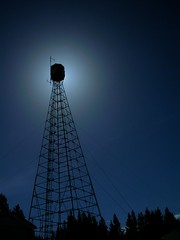 Tom Hill (JimShootsFilm) Tags: sun canada tower silhouette lookout alberta lookouttower edson firelookout tomhilltower