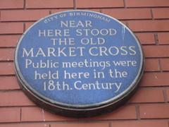 Photo of Old Market Cross, Birmingham blue plaque