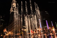 Rings Fountain Of Boston (Ronaldo F Cabuhat) Tags: life birthday lighting city nightphotography trip travel family friends party summer vacation people music mist reflection tower love wet water colors beautiful smile playground boston kids children fun happy photography amigo play nightshot massachusetts joy arts picture newengland happiness visit scene tourist clocktower photograph journey laughter forever sight care waterfountain enjoyment swimwear bestfriends bff touristspot highiso waterreflection summernight bostoncity kidsatplay bestfriendforever nightreflection canonefs1755mmf28isusm canoneos50d colorfulwater pinoykodakero colorfulfountain rosefitzgeraldkennedygreenway wharfdistrictparks ringsfountain cabuhat watersprouts ringsfountainofboston vibrantlights beautifllights