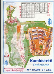 WOC 2009 Sprint Training (Komlosteto)