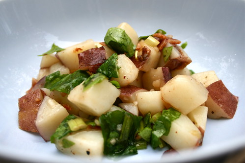Potato Salad - This arugula potato salad might even convert the most die-hard potato salad haters, thanks to its bacon, arugula and balsamic vinegar.