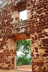 Entrance (MelindaChan ^..^) Tags: brown heritage window wall bricks entrance mel malaysia melinda portuguese melaka malacca afamosa   sooc chanmelmel melindachan
