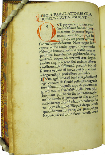 Coloured initial and paragraph marks in Aesopus: Vita et Fabulae