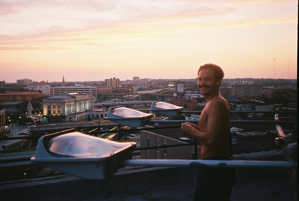 on the roof with ian