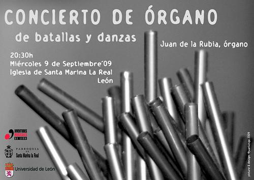 DE BATALLAS Y DANZAS - CONCIERTO DE ÓRGANO DE JUAN DE LA RUBIA