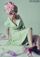 Sewing Kit (Fallen Rose Media) Tags: light fashion rose fairytale studio model media pretty girly australian brisbane fallen couture strobe childlike fallenrosemedia begitta begittacouture