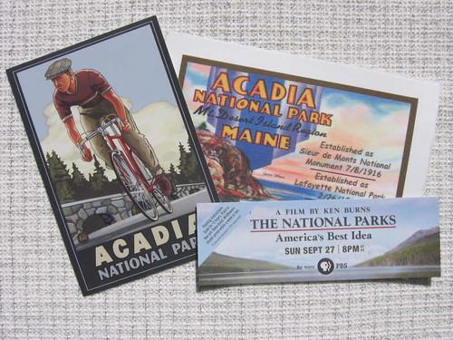 Acadia postcards