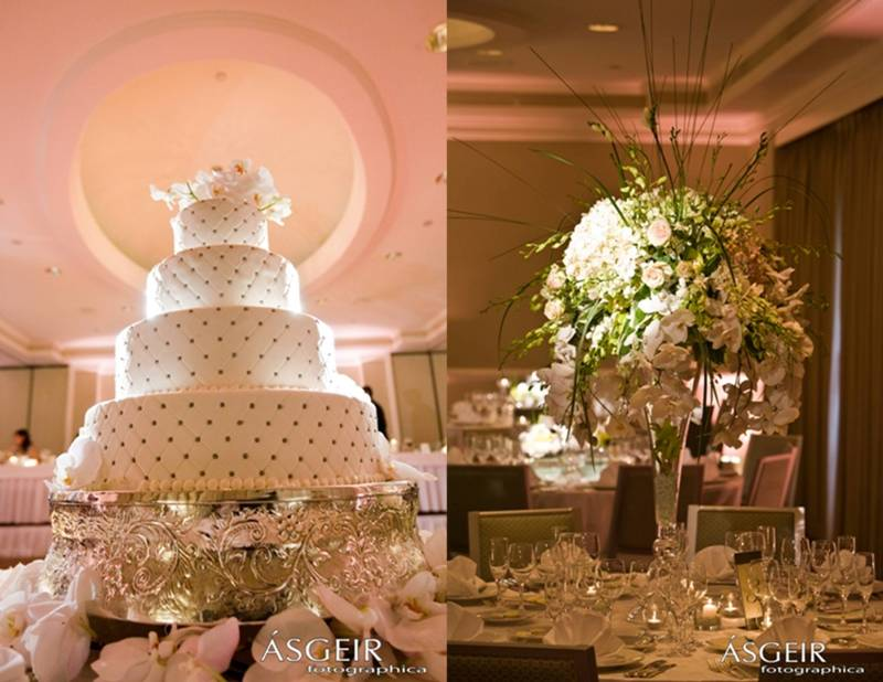 Ritz Carlton Laguna Niguel Wedding - Centerpiece and cake