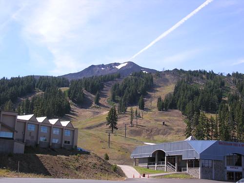 Mt. Bachelor with ski lifts