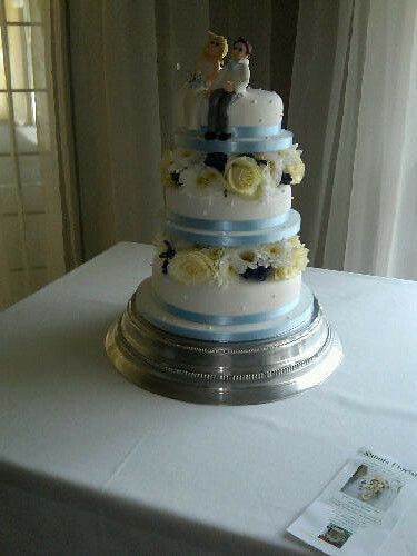 floral tiered cake. Three Tier Cake with Floral