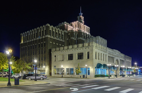 Carter Carburetor Building, in Saint Louis, Missouri, USA - view at night