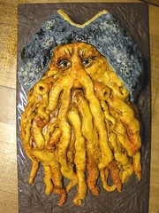 davy jones (The Whole Cake and Caboodle ( lisa )) Tags: newzealand cakes face cake 40th pirates squid pirate octopus hubby spaghetti piratesofthecaribbean whangarei tentacles buttercream davyjones caboodle thewholecakeandcaboodle allbuttercream