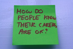 How do people know their carers are ok?