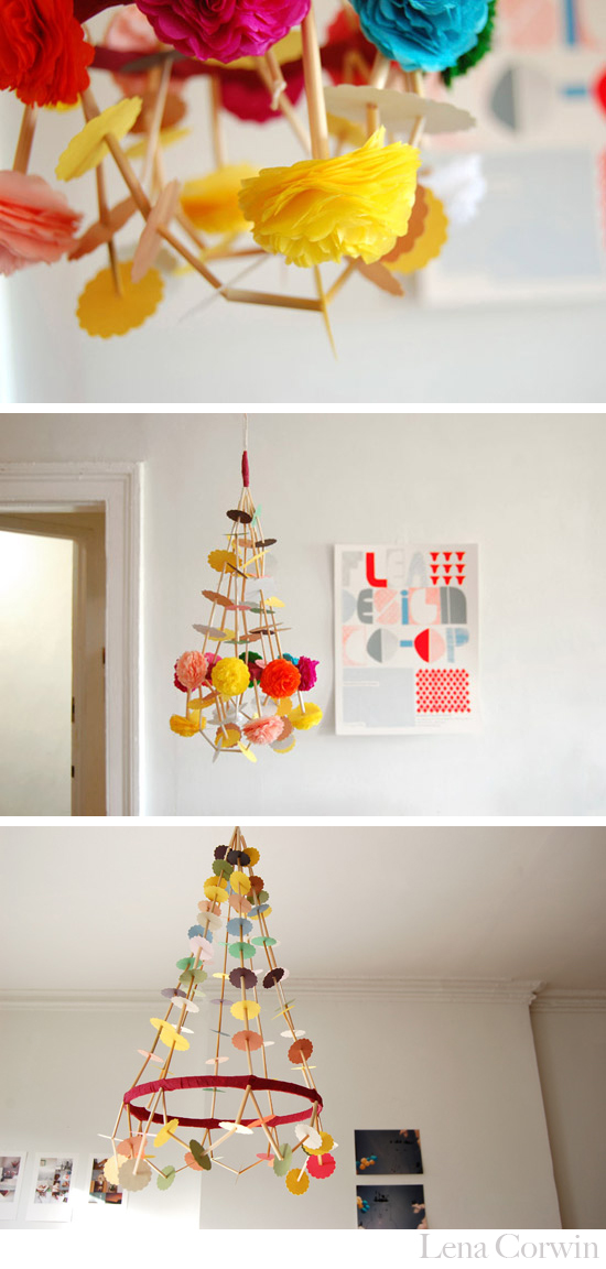Polish Paper Chandeliers