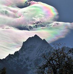 An Iridescent (Rainbow) Cloud in Himalaya (Oleg Bartunov) Tags: supershot flickraward nikonflickraward