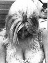 Linda Vaughn looking for her feet (torinodave72) Tags: girl golden linda nascar firebird miss vaughn pure shifter hurst nhra usac