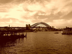 The Harbour Bridge (Harsh Mangal`) Tags: water clouds sydney australia circularquay harbourbridge