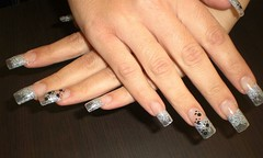 Uas decoradas (saludgl) Tags: hands traces manos nails gel fantasias huellas fantasies uas decoracin transparentes purpurina transparents kylua purpurin uasdecoradas nailsfantasies uasgel haciendomanitas doinghandyman