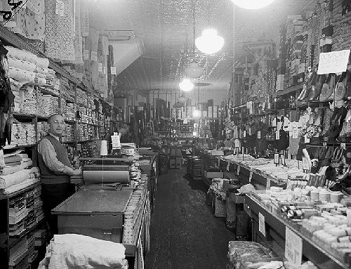 "Bee Hive store at 86 Amsterdam Avenue, ""5c-10c-19c and up Dep't Store,"" March 14, 1941. The San Juan Hill neighborhood had a large concentration of African-Americans."