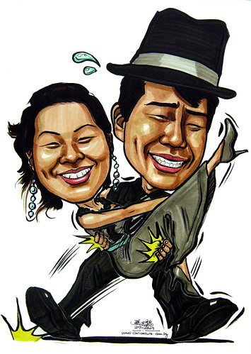 Wedding couple caricatures 271109