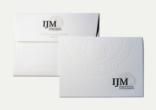 IJM Letterpress Card & Envelope
