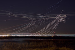SFO (II) (exxonvaldez) Tags: sanfrancisco longexposure night airport sfo sfist planetrails quiet7