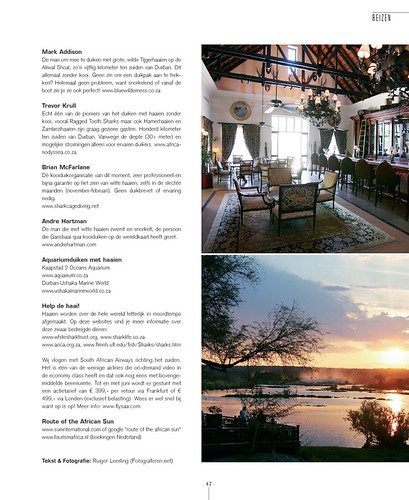 Sharks & Hotels for Tulp Magazine, page 7